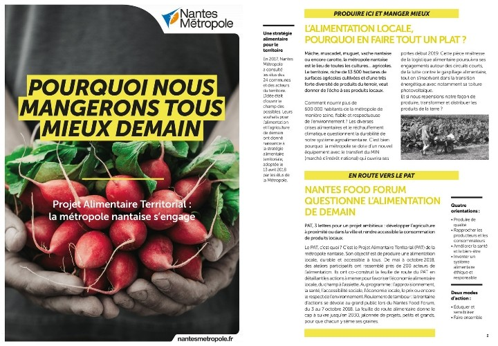 Couverture Magazine Projet Alimentaire Territorial